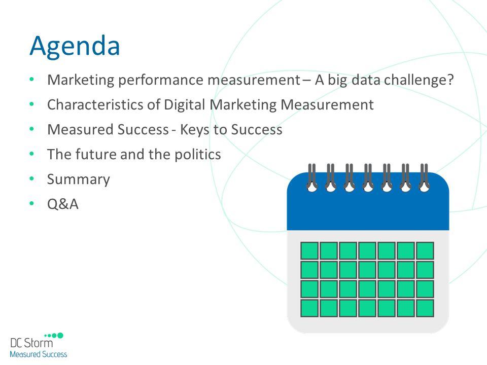 Agenda Marketing performance measurement – A big data challenge