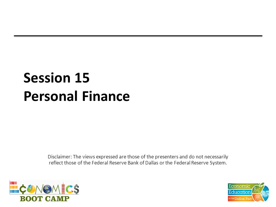 Session 15 Personal Finance
