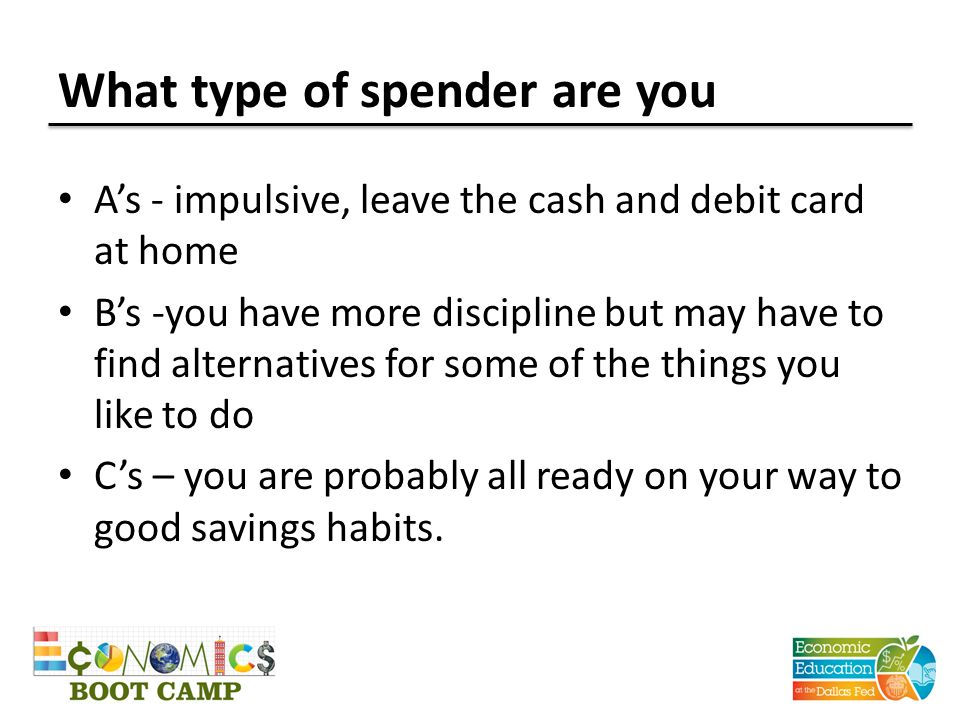 What type of spender are you