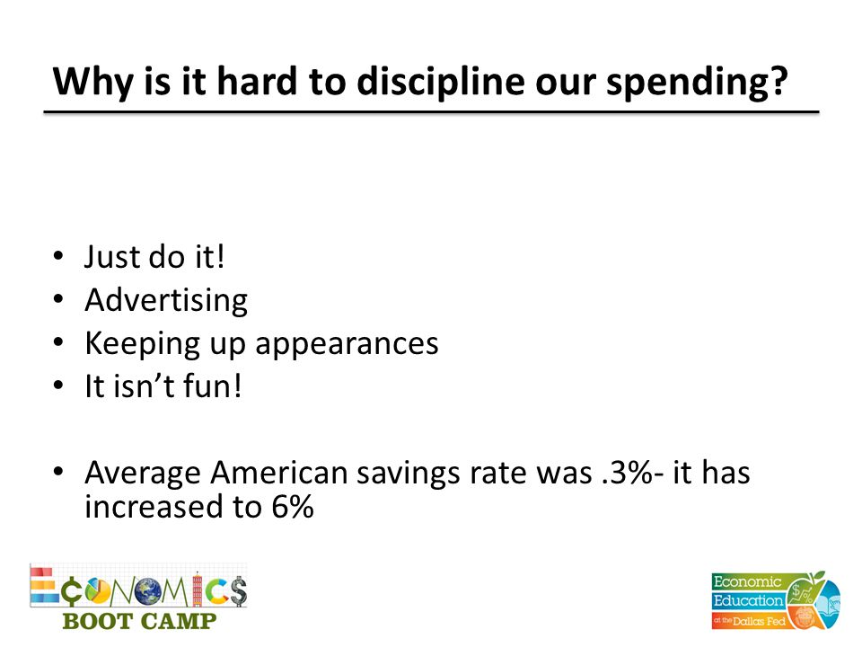 Why is it hard to discipline our spending