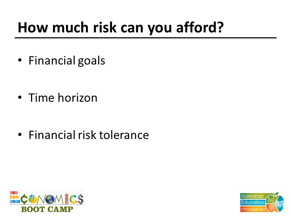 How much risk can you afford
