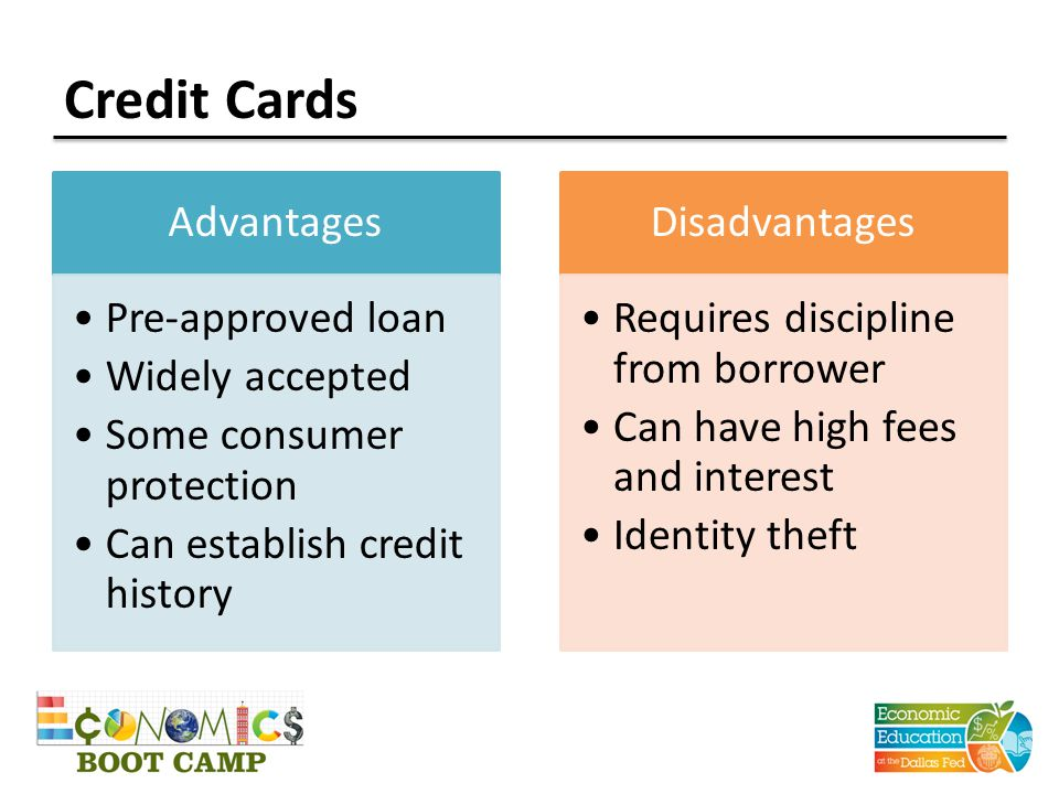 advantages and disadvantages of credit card pte essay