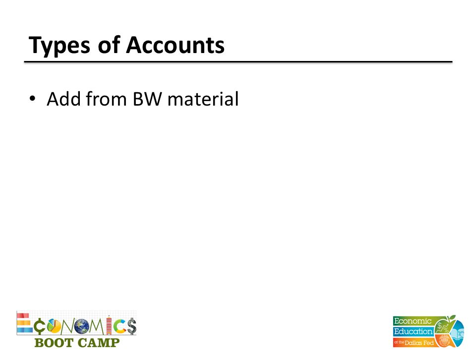 Types of Accounts Add from BW material