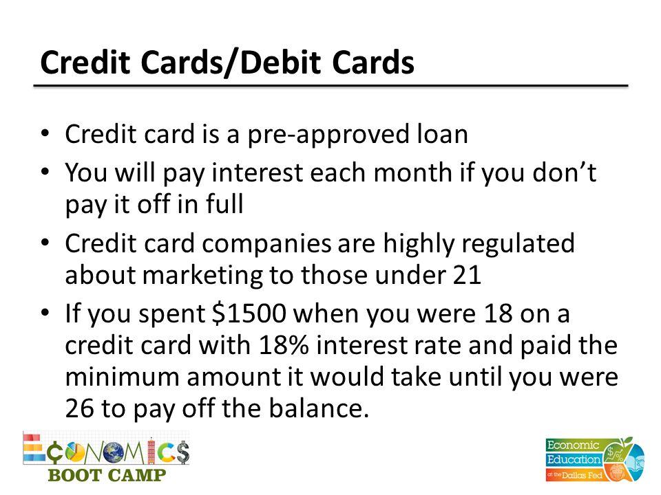 Credit Cards/Debit Cards