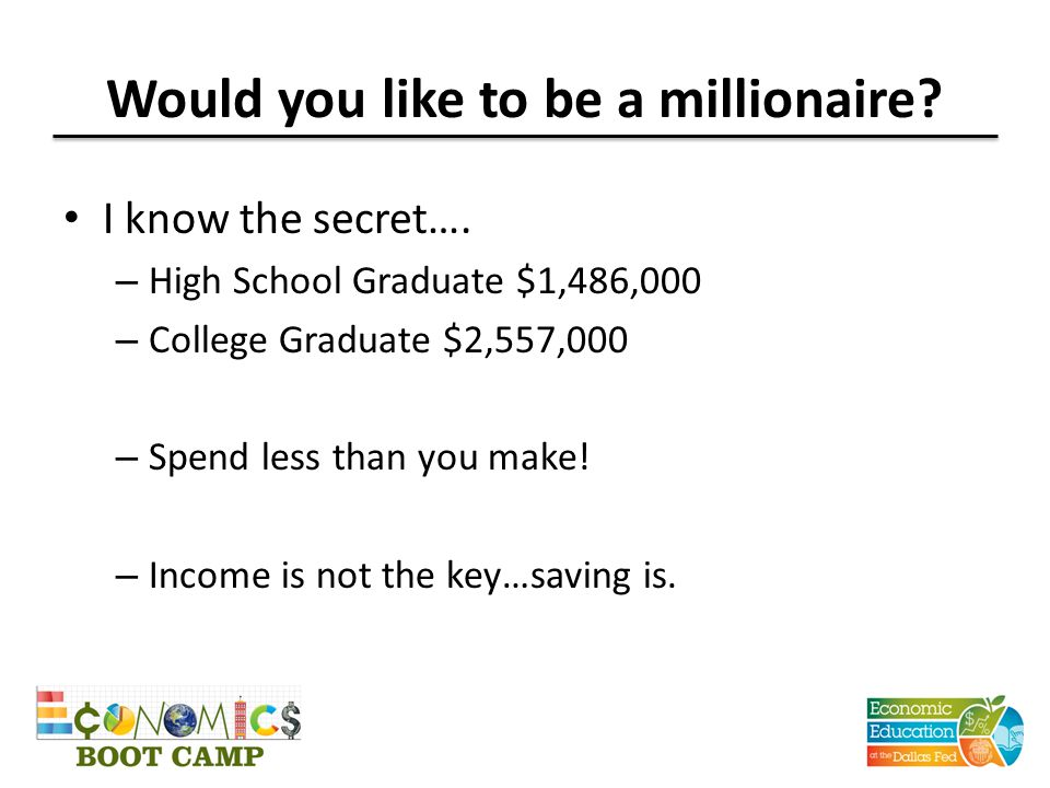Would you like to be a millionaire