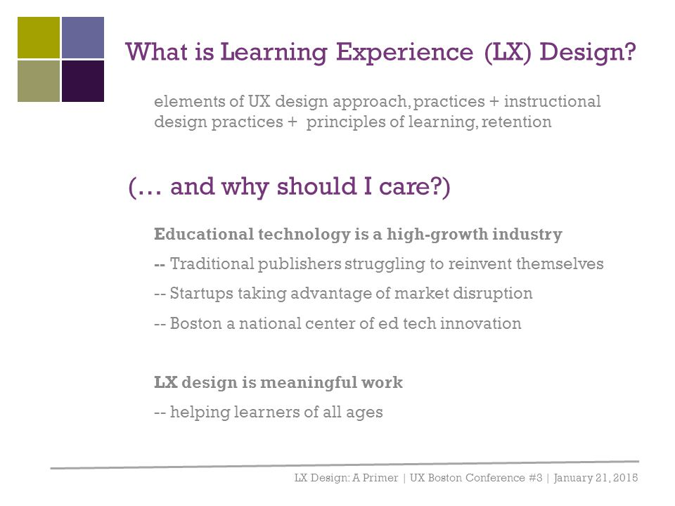 What is Learning Experience (LX) Design