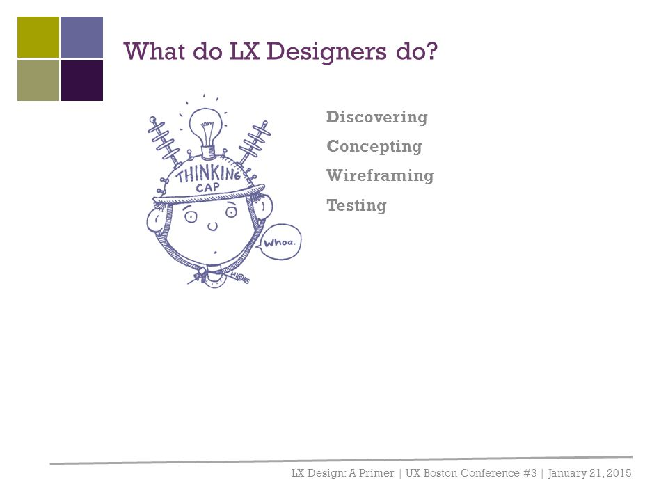What do LX Designers do Discovering Concepting Wireframing Testing