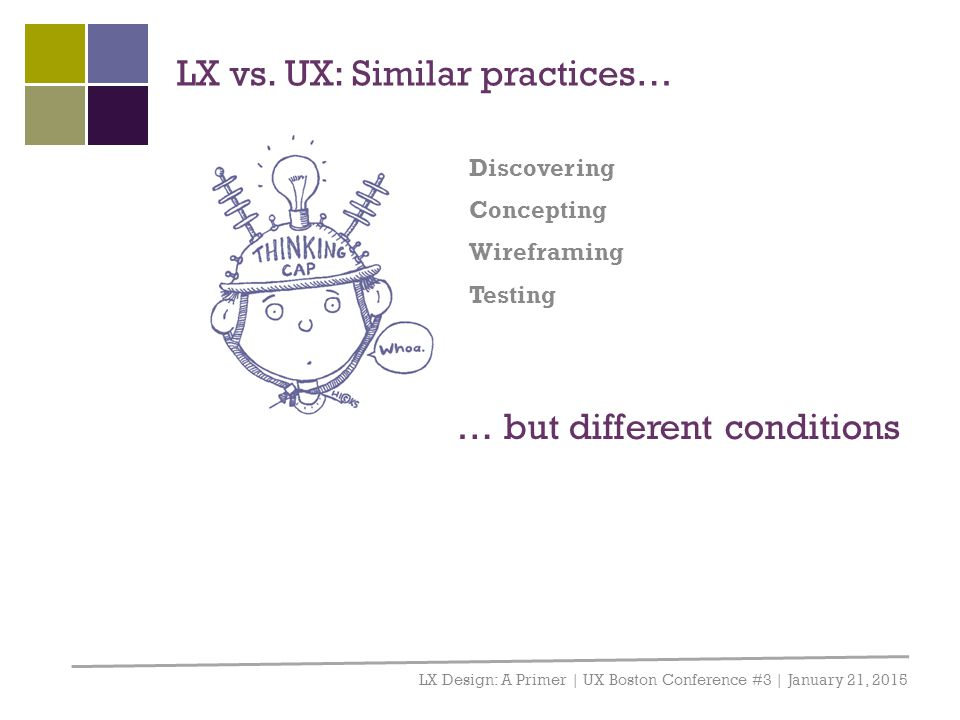 LX vs. UX: Similar practices…