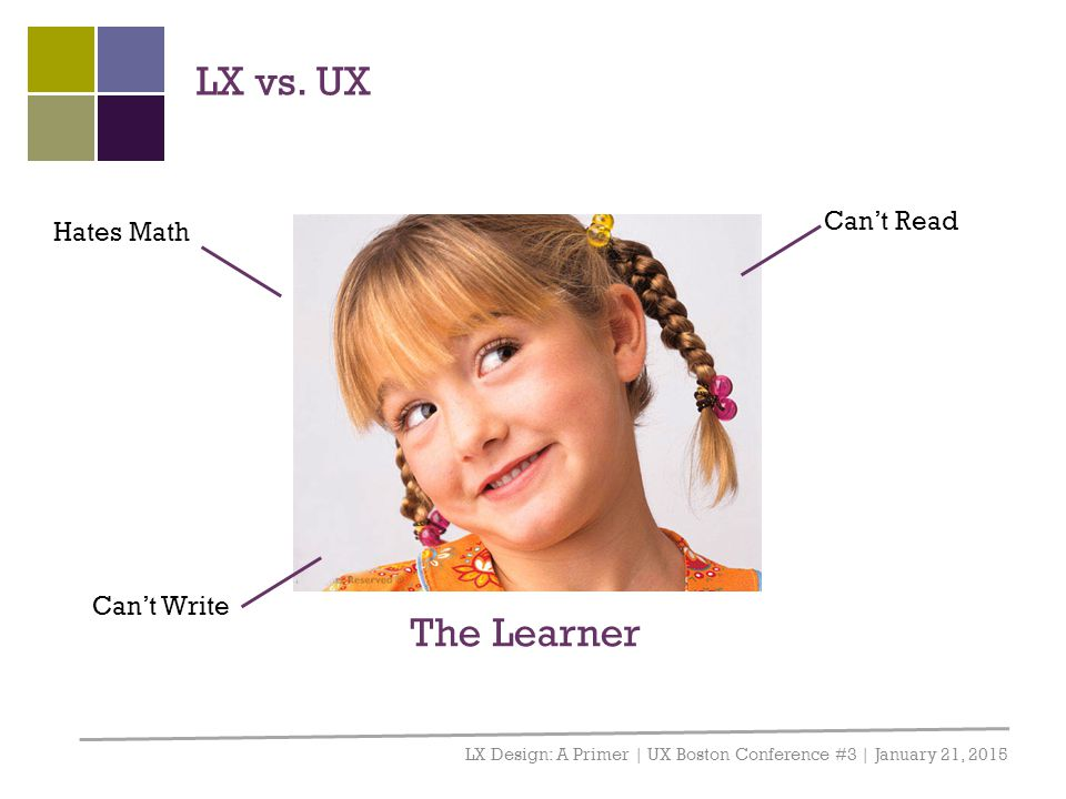LX vs. UX The Learner Can't Read Hates Math Can't Write