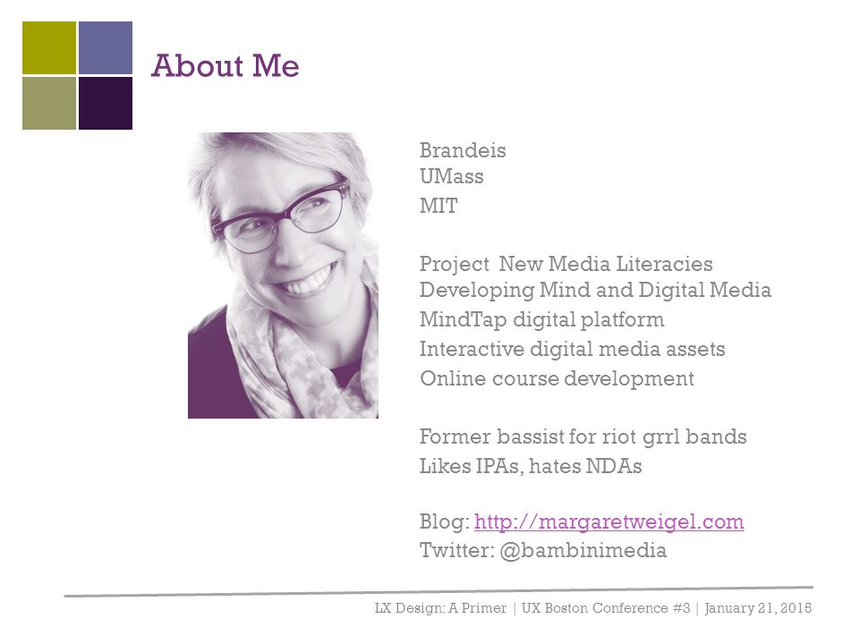 About Me Brandeis UMass MIT
