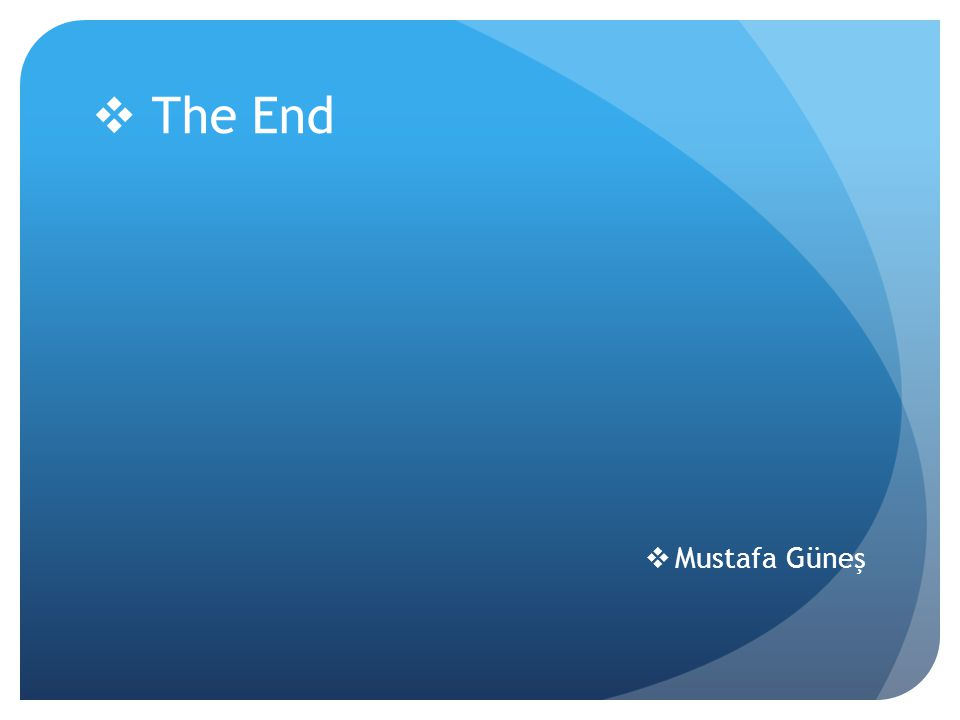 The End Mustafa Güneş