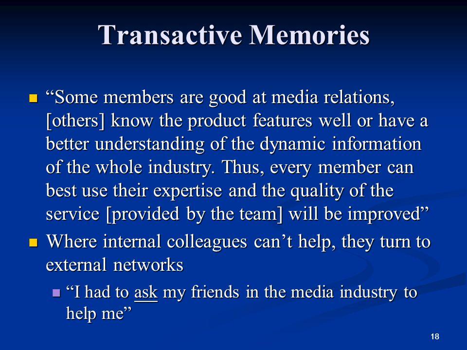 Transactive Memories