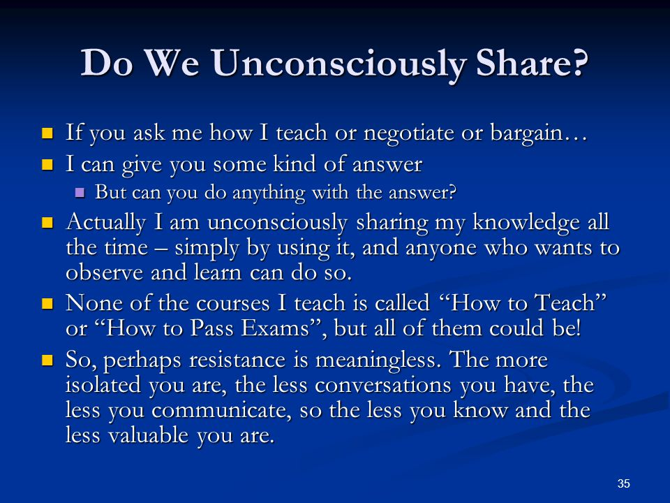 Do We Unconsciously Share