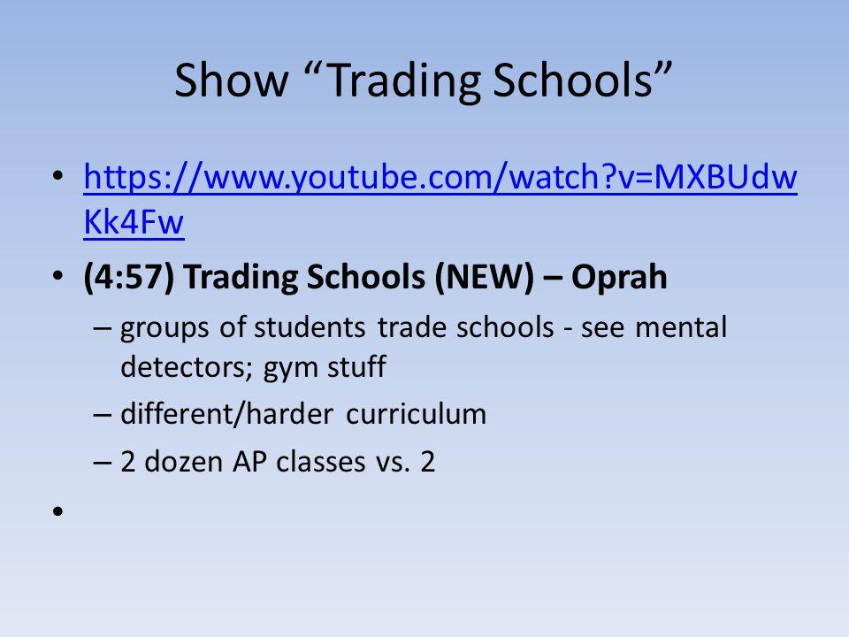 Show Trading Schools