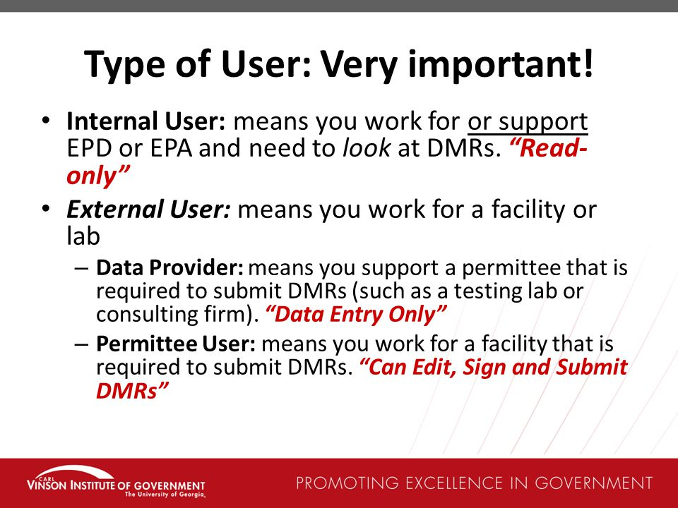 Type of User: Very important!