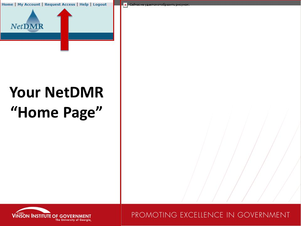 Your NetDMR Home Page