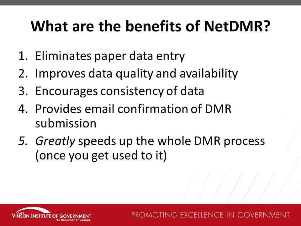 What are the benefits of NetDMR