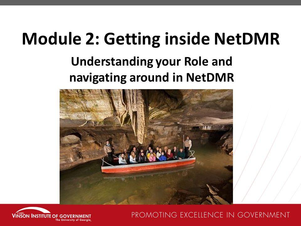Module 2: Getting inside NetDMR