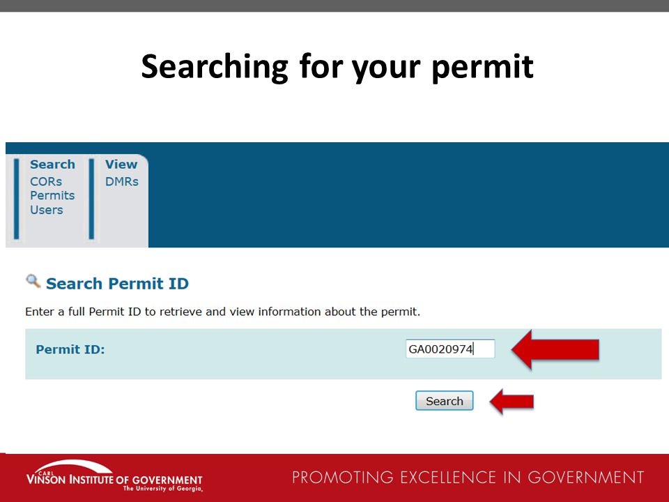 Searching for your permit