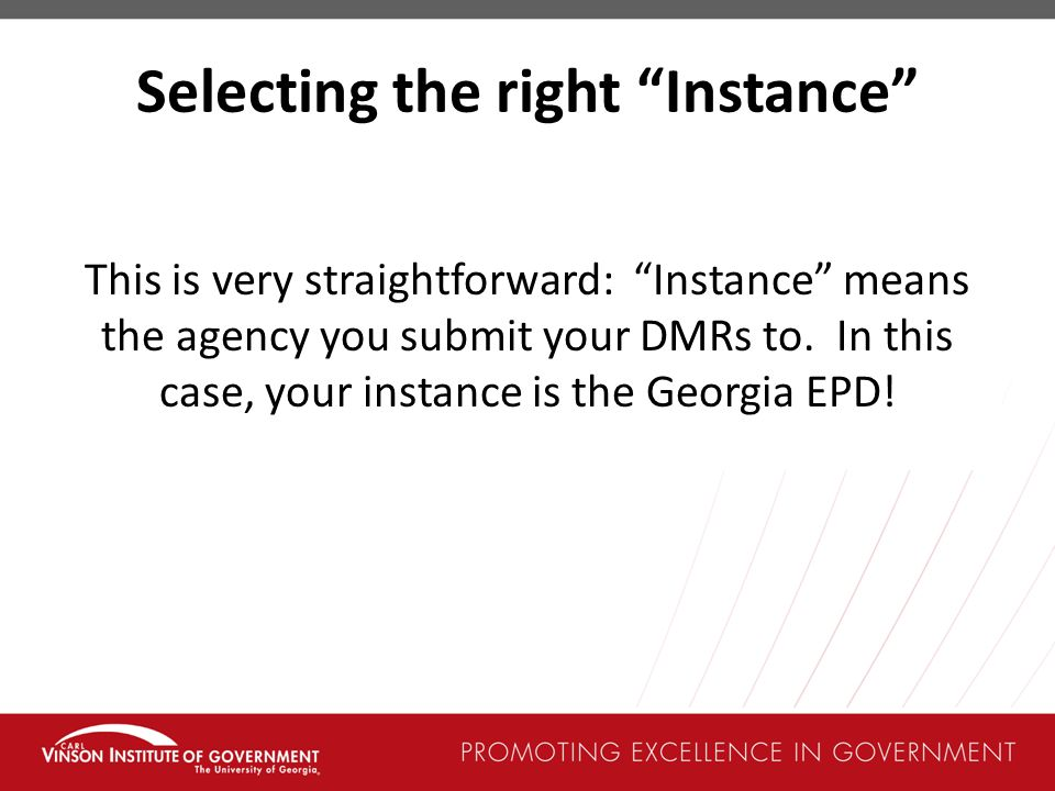 Selecting the right Instance