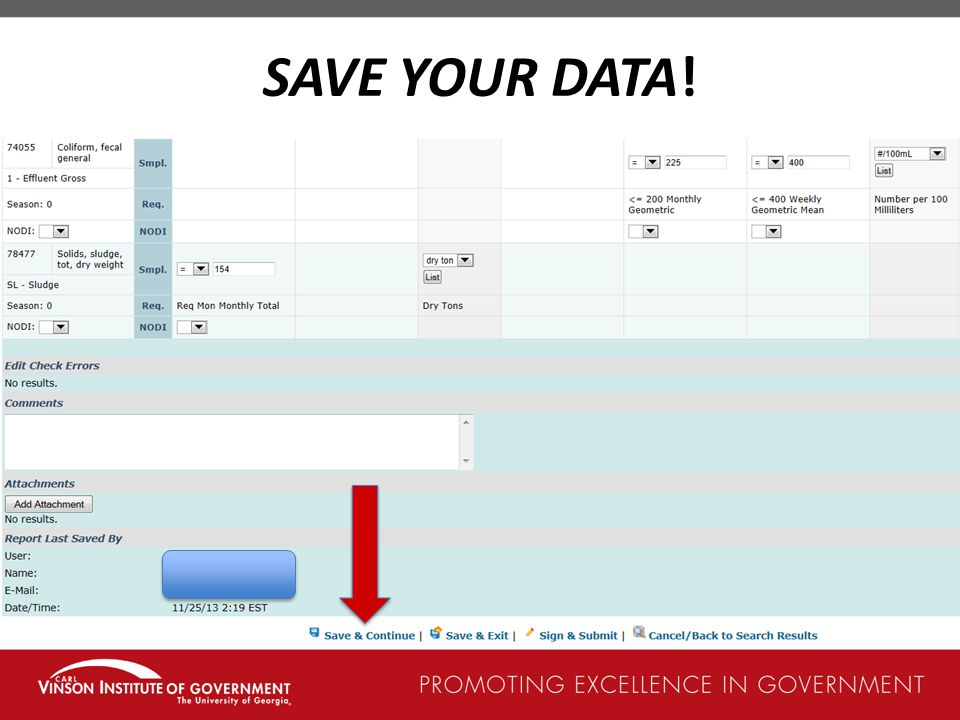 SAVE YOUR DATA!