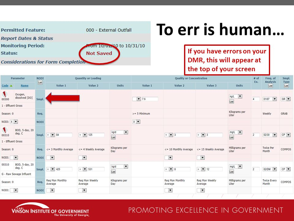 To err is human… If you have errors on your DMR, this will appear at the top of your screen