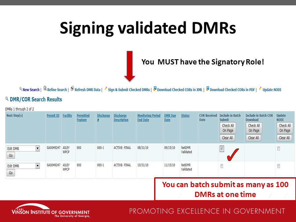 Signing validated DMRs