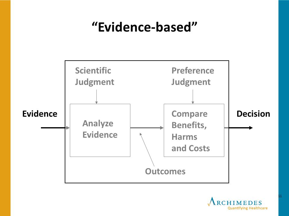 Evidence-based Scientific Judgment Preference Judgment Evidence
