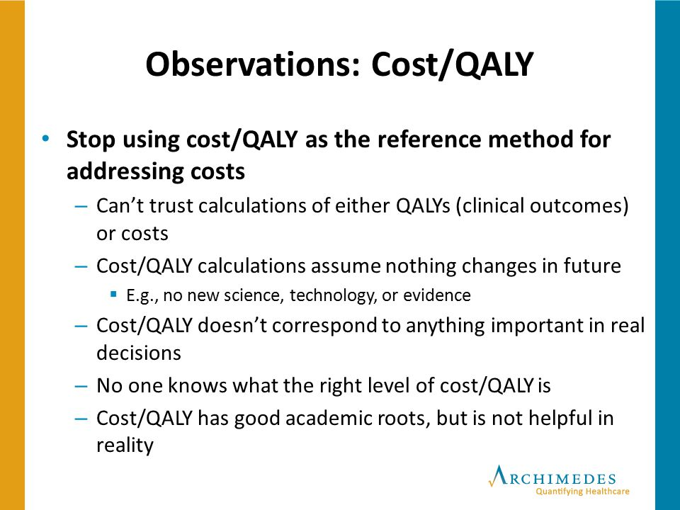 Observations: Cost/QALY