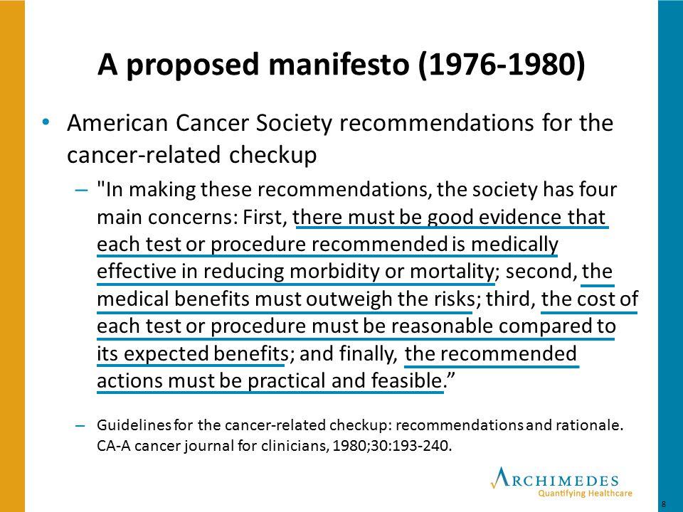 A proposed manifesto (1976-1980)