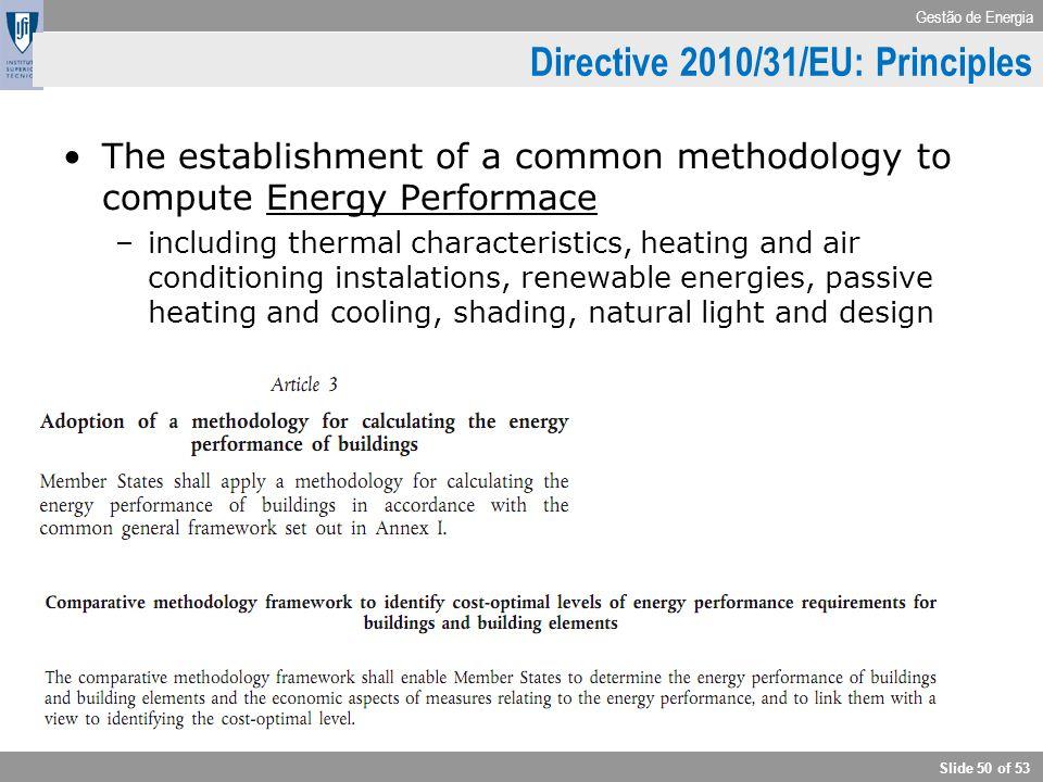 Directive 2010/31/EU: Principles