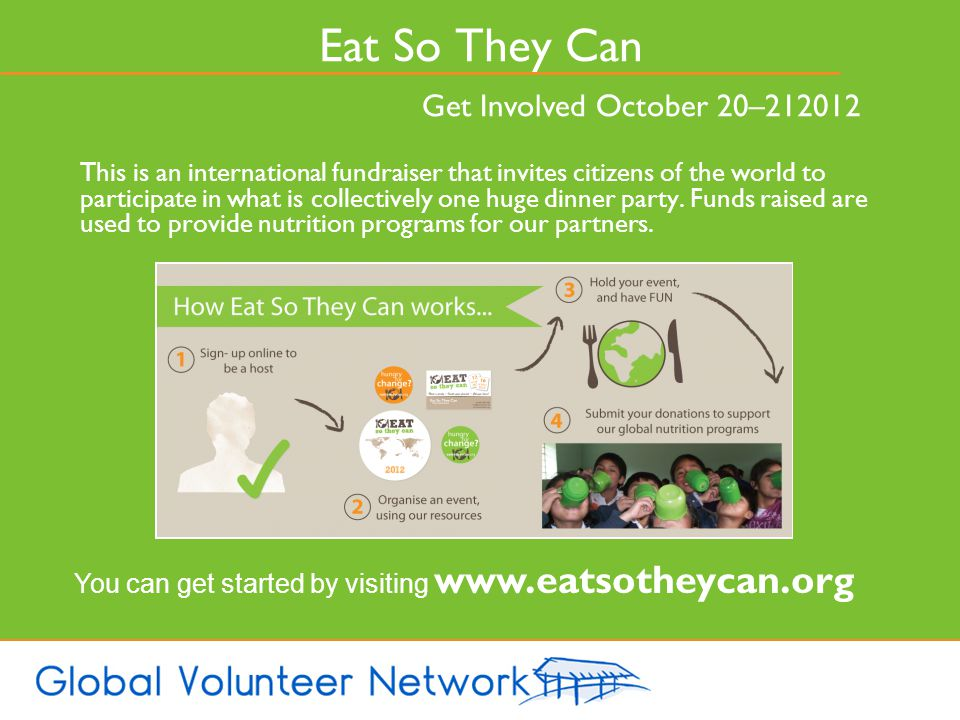 Eat So They Can Get Involved October 20–212012