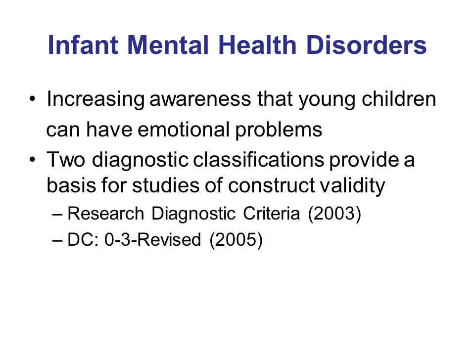 Infant Mental Health Disorders