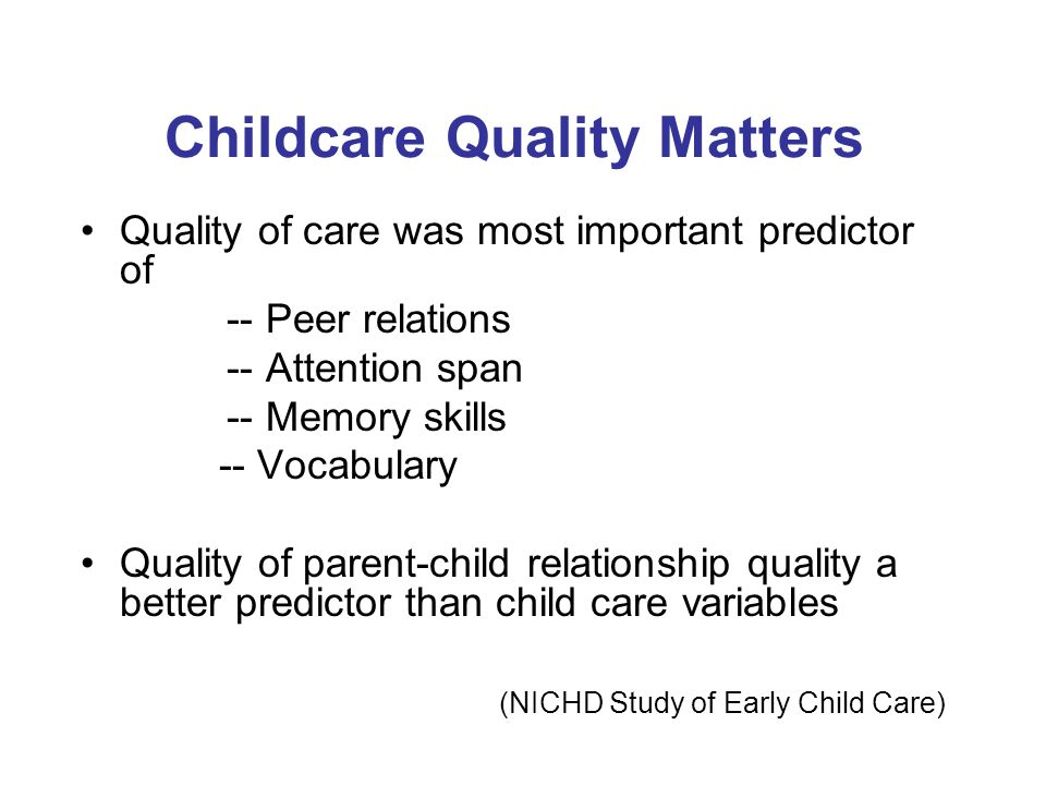 Childcare Quality Matters