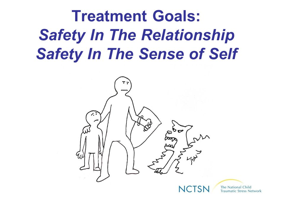 Treatment Goals: Safety In The Relationship Safety In The Sense of Self