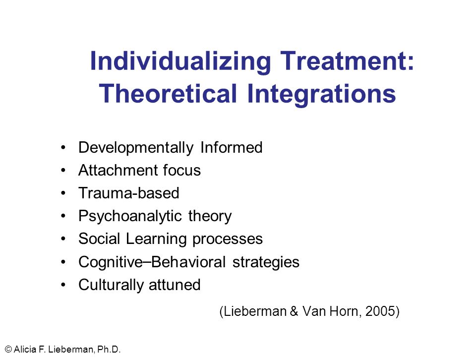 Individualizing Treatment: Theoretical Integrations