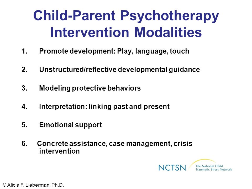 Child-Parent Psychotherapy Intervention Modalities