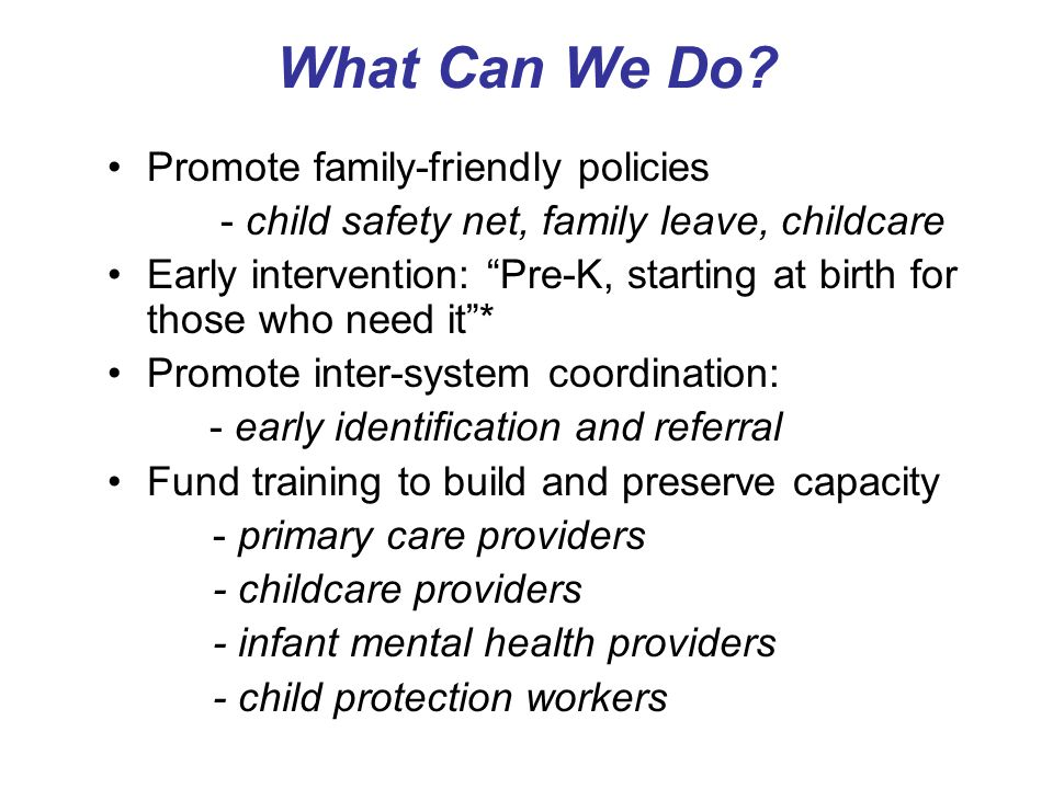 What Can We Do Promote family-friendly policies