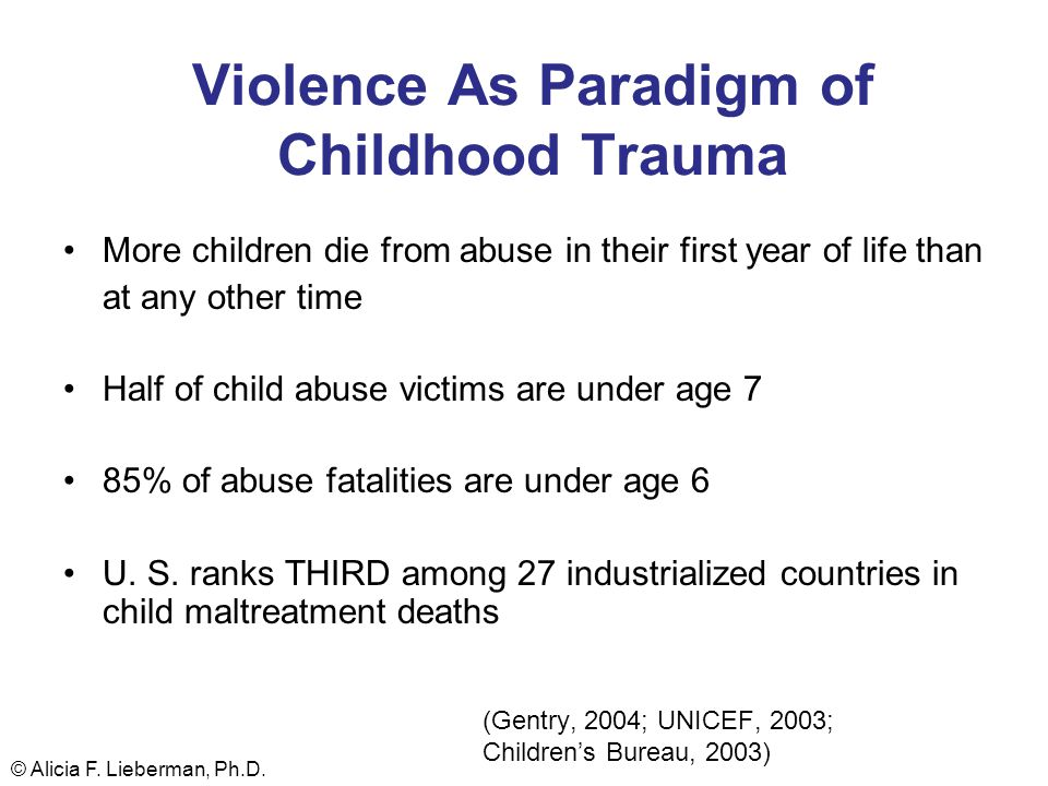 Violence As Paradigm of Childhood Trauma