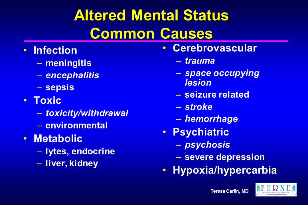 Altered Mental Status Common Causes