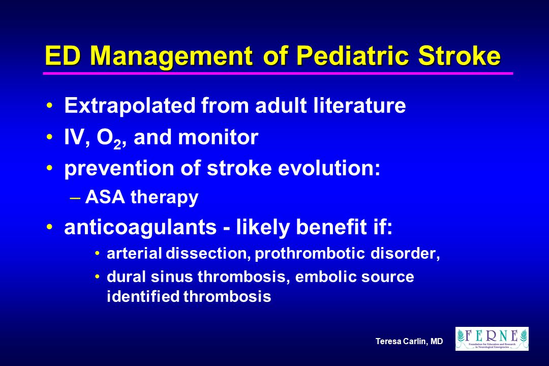ED Management of Pediatric Stroke