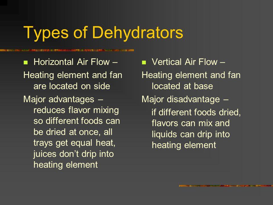 Types of Dehydrators Horizontal Air Flow –
