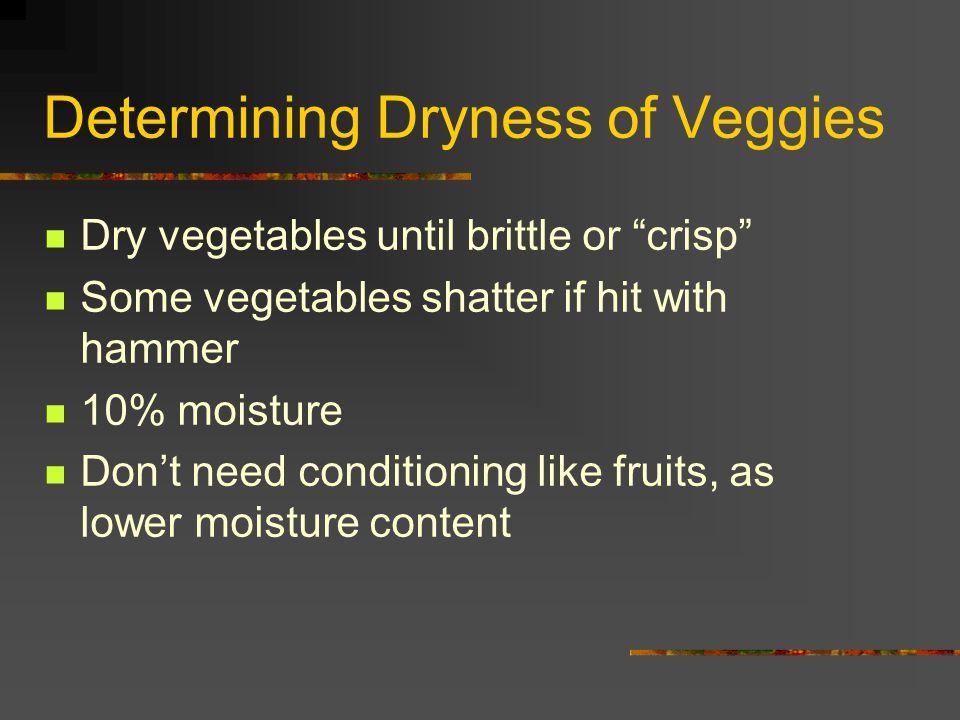Determining Dryness of Veggies
