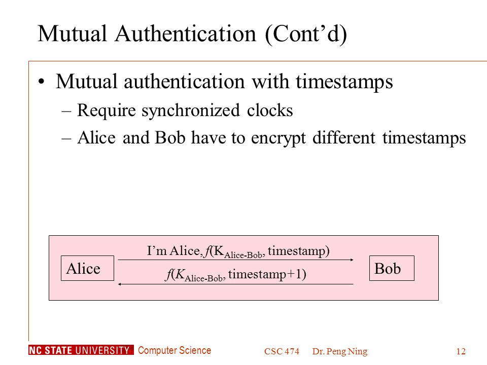 Mutual Authentication (Cont'd)