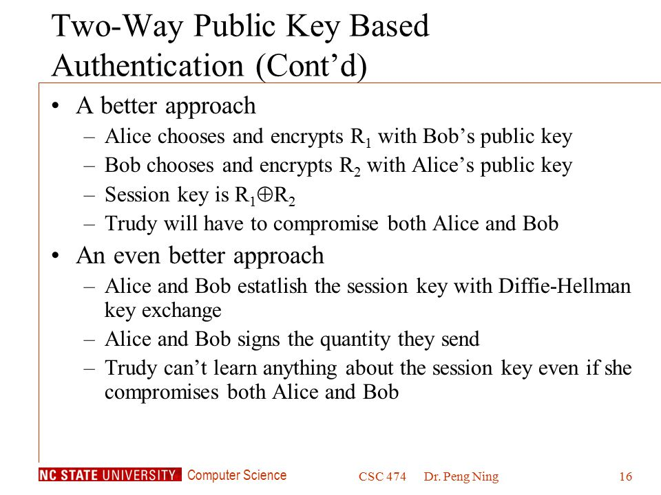 Two-Way Public Key Based Authentication (Cont'd)