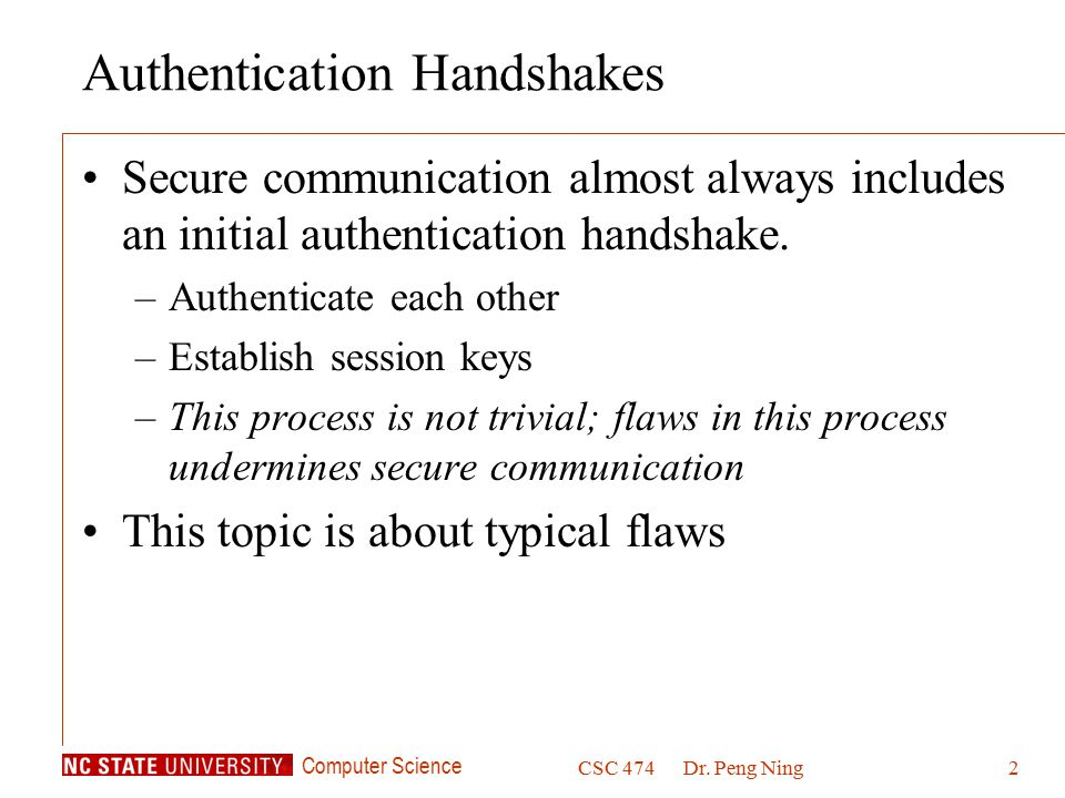 Authentication Handshakes