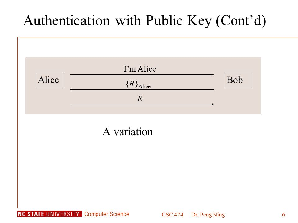 Authentication with Public Key (Cont'd)