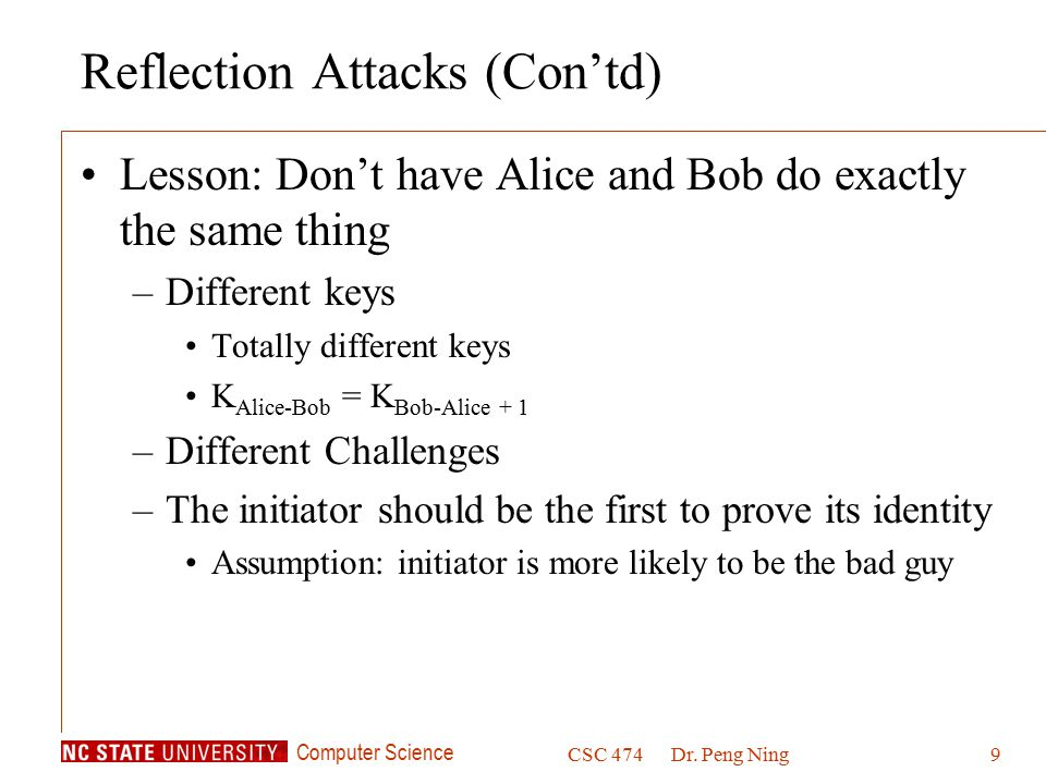 Reflection Attacks (Con'td)