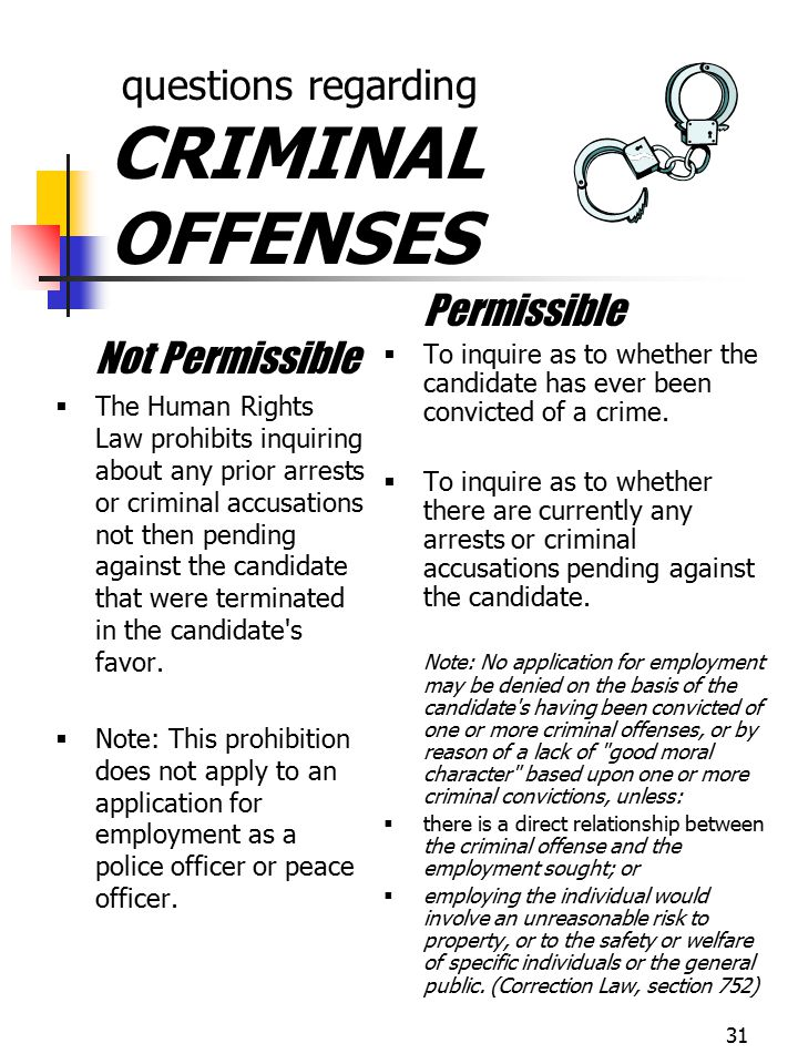 questions regarding CRIMINAL OFFENSES