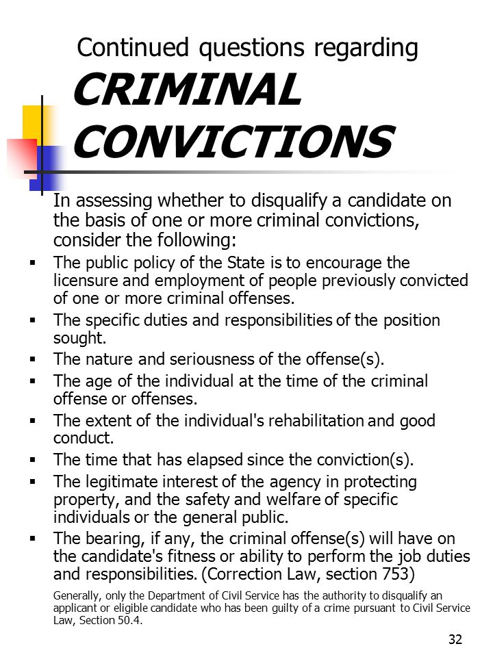 Continued questions regarding CRIMINAL CONVICTIONS